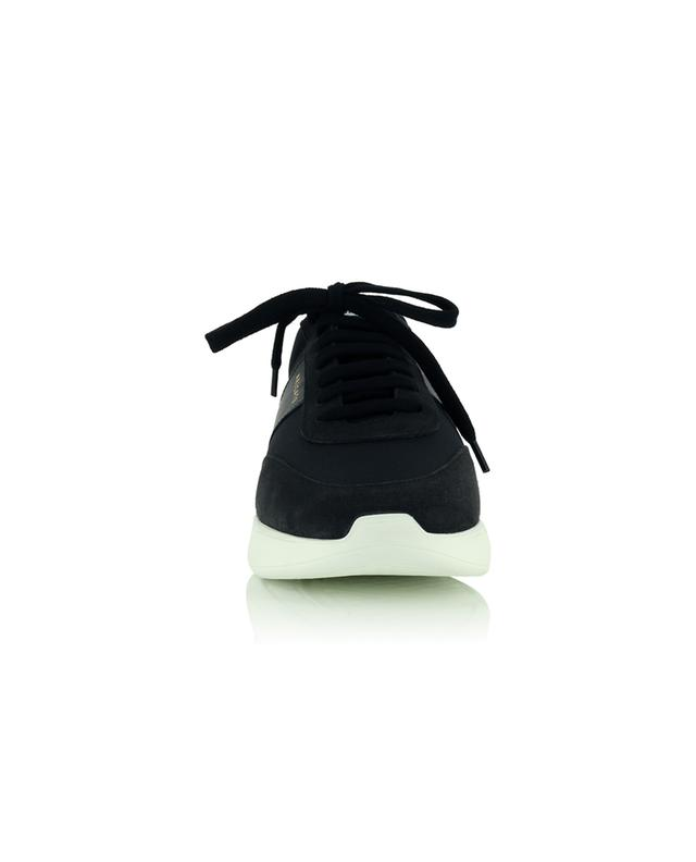 Baskets en tissu et cuir noirs Genesis Vintage Runner AXEL ARIGATO