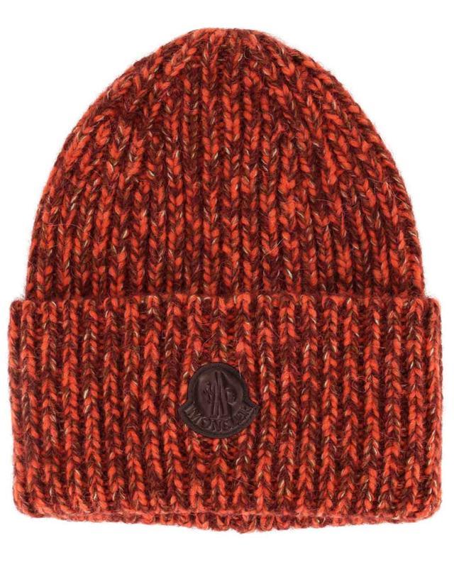 Bonnet en laine mélangée et large revers Berretto MONCLER