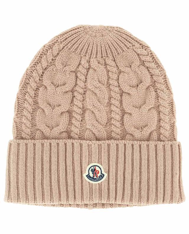 Bonnet en laine et mailles torsadées Berretto MONCLER