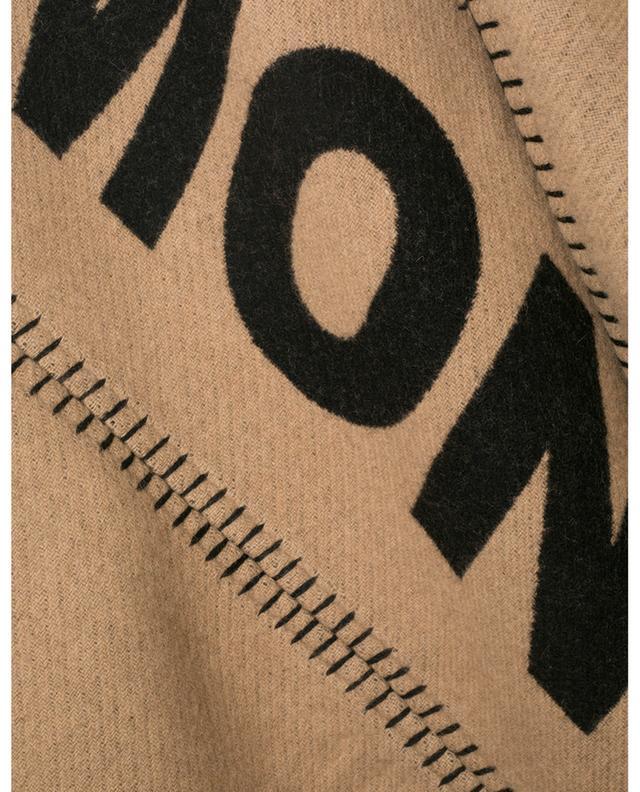 Poncho en laine motif logo avec ceinture en nylon MONCLER