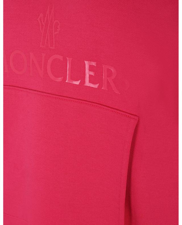 Sweat-shirt à capuche boxy multi-matières imprimé logo MONCLER
