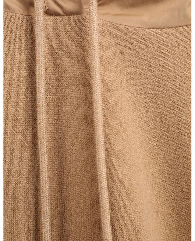 Sweat-shirt à capuche en maille à empiècements en nylon MONCLER