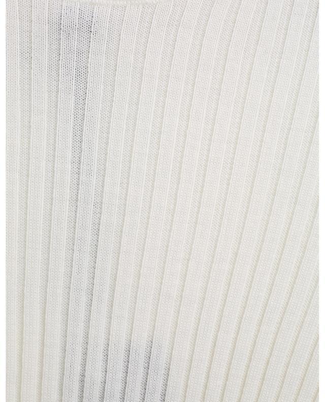 Pull chaussette côtelé à col roulé et détail logo jacquard MONCLER