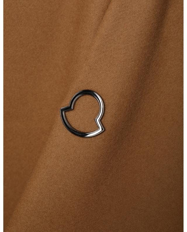 Manteau en laine à capuche en nylon Fleole MONCLER