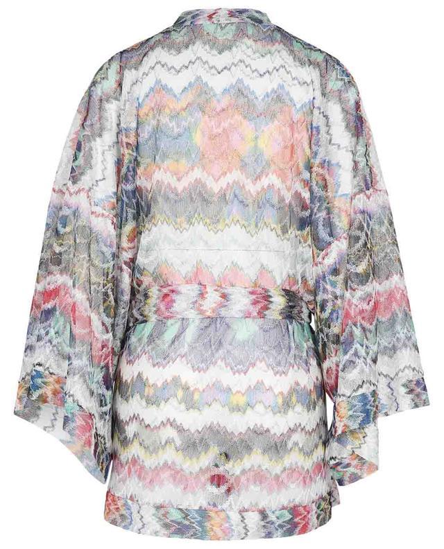 Kimono de plage en maille à zig-zag multicolore MISSONI MARE