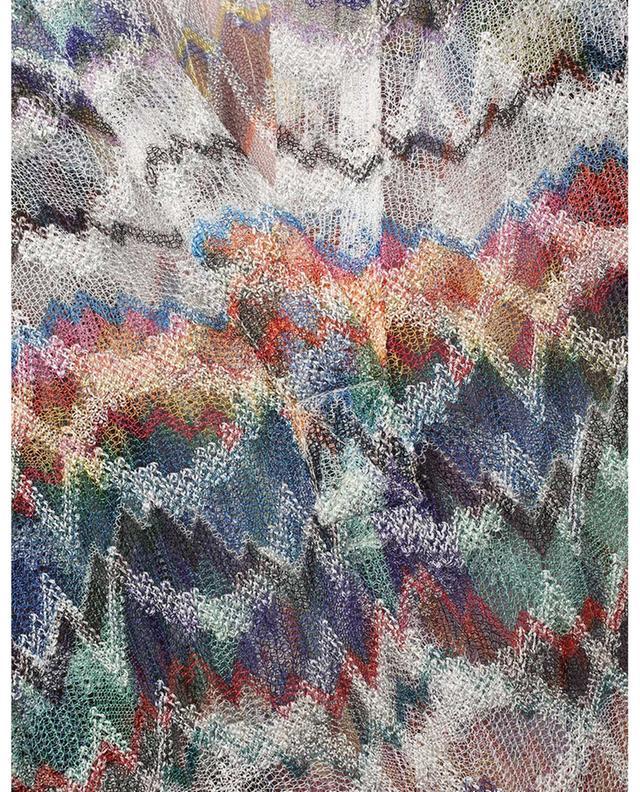 Tunique de plage en maille motif zigzags MISSONI MARE