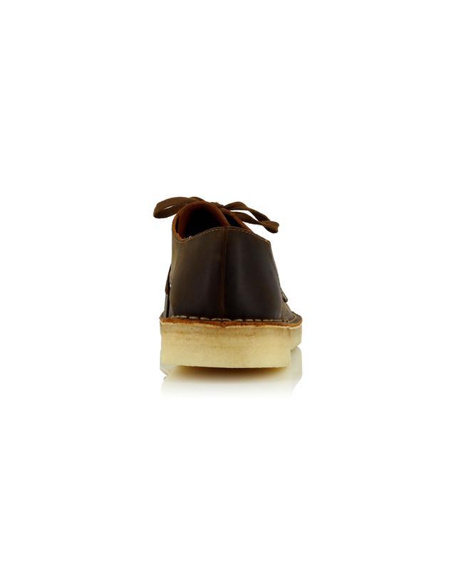 Chaussures à lacets en cuir Desert Khan Beeswax CLARKS ORIGINALS