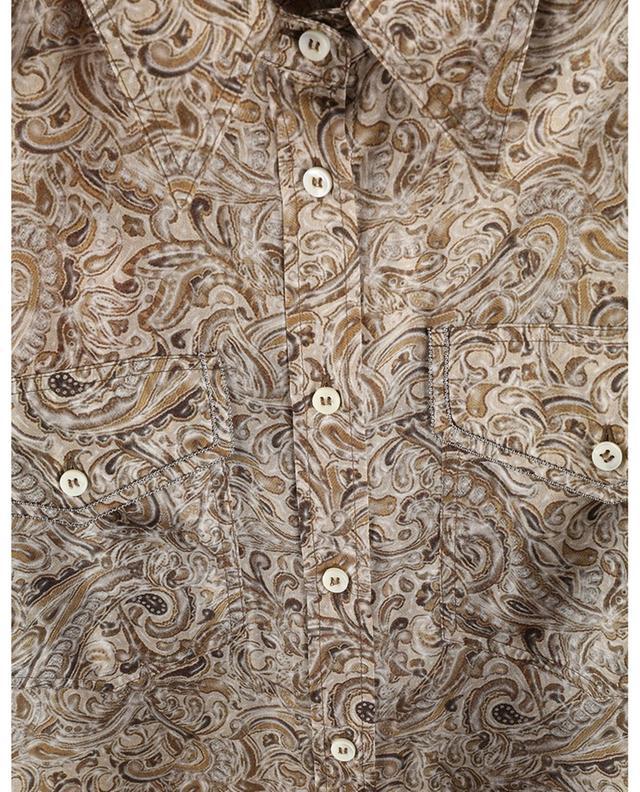 Chemise en soie imprimée Paisley à perles Monile BRUNELLO CUCINELLI