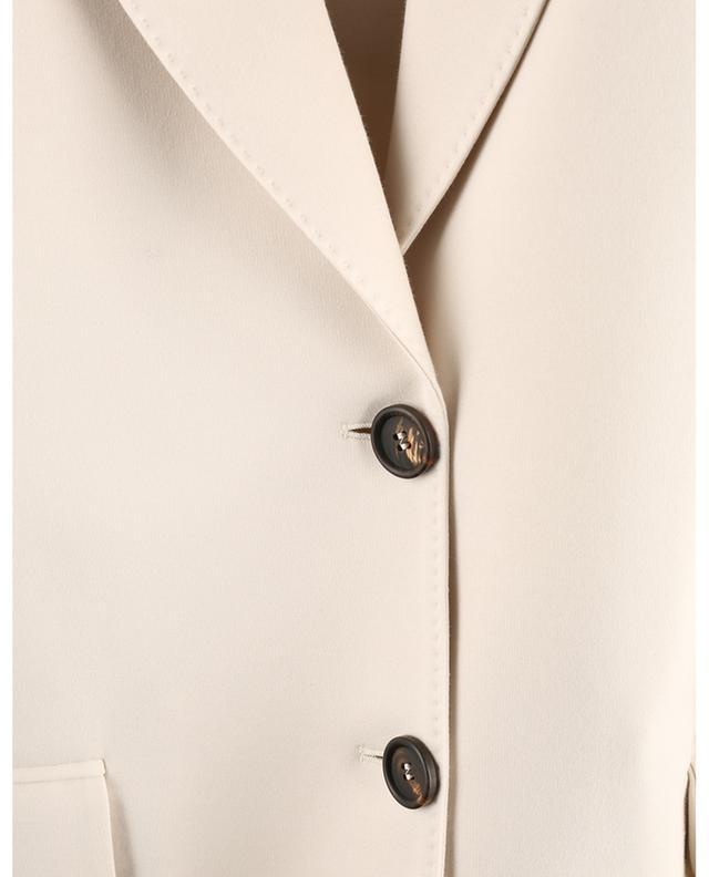 Blazer à boutonnage simple en jersey BRUNELLO CUCINELLI