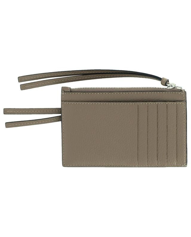 Porte-cartes zippé en cuir grainé Neo Classic BALENCIAGA
