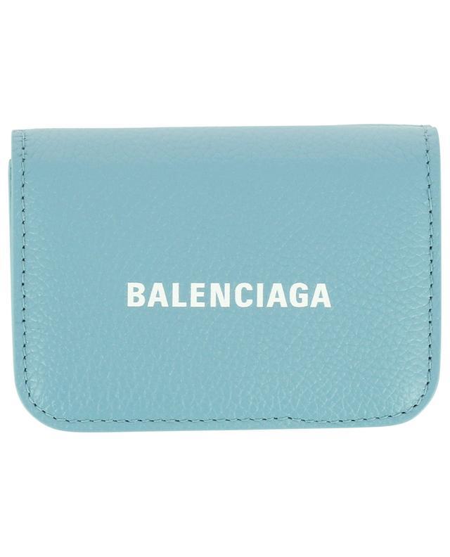 Mini portefeuille en cuir grainé Cash BALENCIAGA