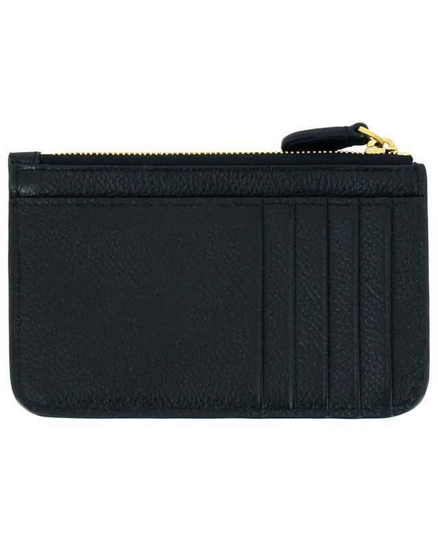 Porte-cartes en cuir grainé avec poche zippée Cash BALENCIAGA