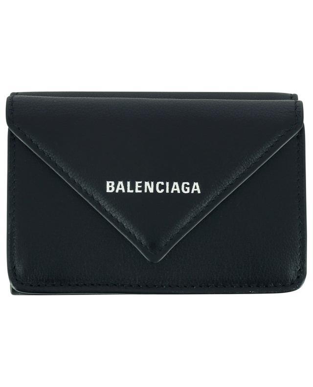 Mini portefeuille en cuir lisse Paper BALENCIAGA