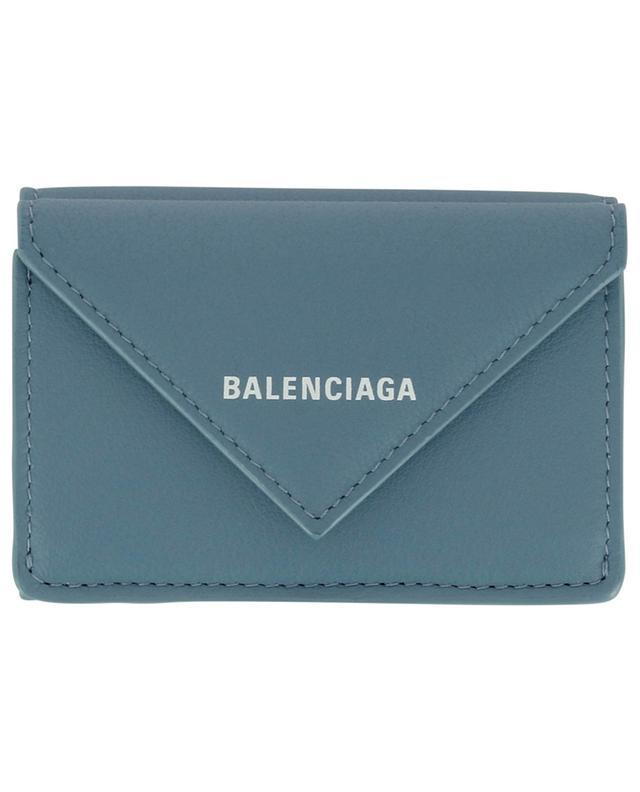 Mini portefeuille en cuir de veau Papier BALENCIAGA