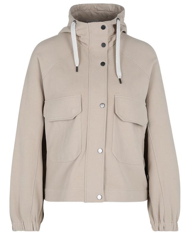 Veste utilitaire à capuche en jersey velouteux BRUNELLO CUCINELLI