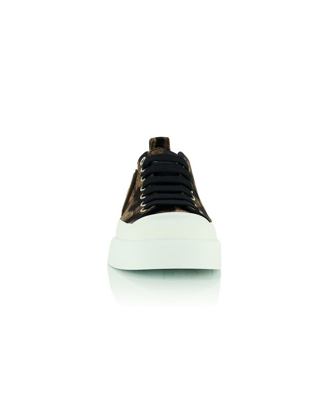 Baskets en coton imprimé léopard Portofino light DOLCE & GABBANA