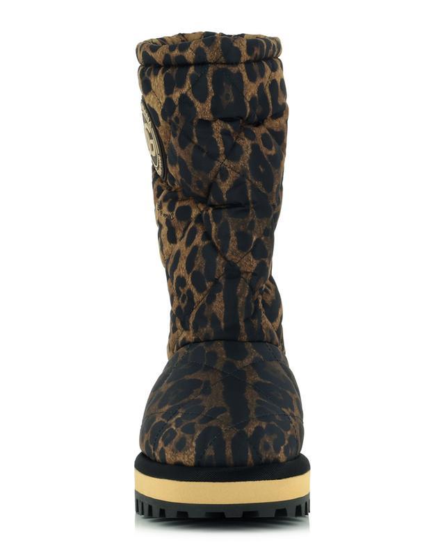 Bottines matelassées imprimé léopard City boots DOLCE & GABBANA