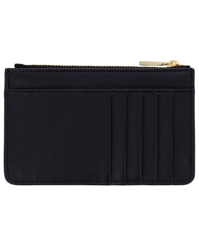 Porte-cartes zippé en cuir lisse avec logo DOLCE & GABBANA