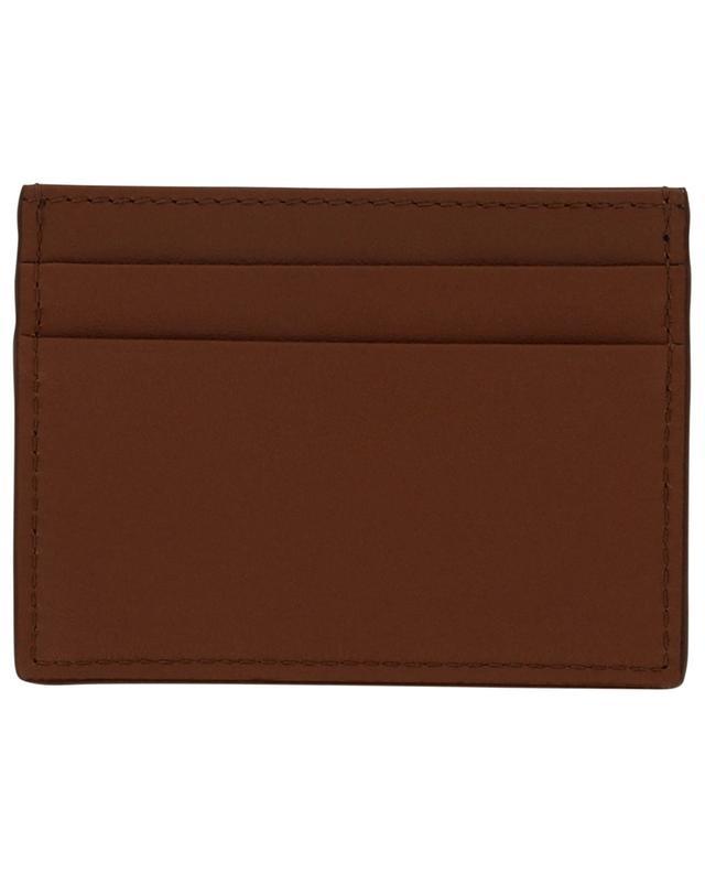 Porte-cartes en cuir lisse à plaque logo DOLCE & GABBANA
