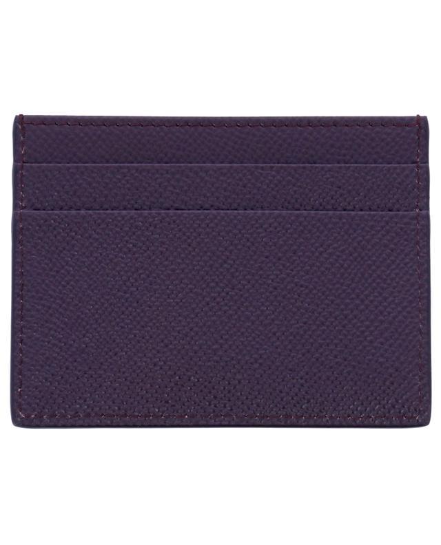 Porte-cartes en cuir dauphine à plaque logo DOLCE & GABBANA