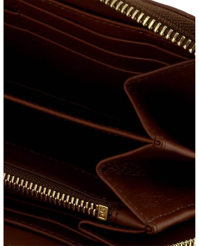 Portefeuille zippé en cuir lisse orné du logo DOLCE & GABBANA