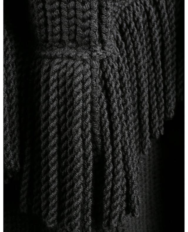 Surchemise oversize en maille de laine à franges ERMANNO SCERVINO