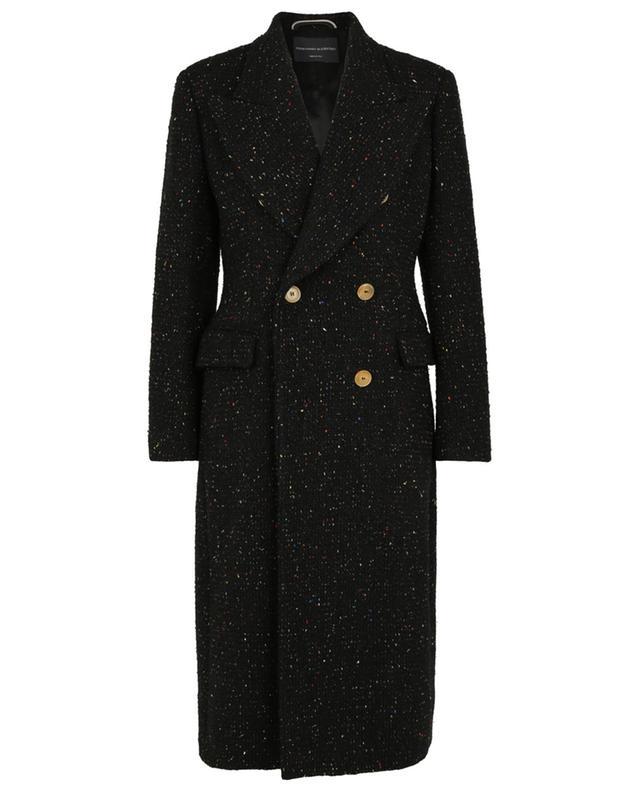 Manteau en tweed coloré à boutonnage double ERMANNO SCERVINO