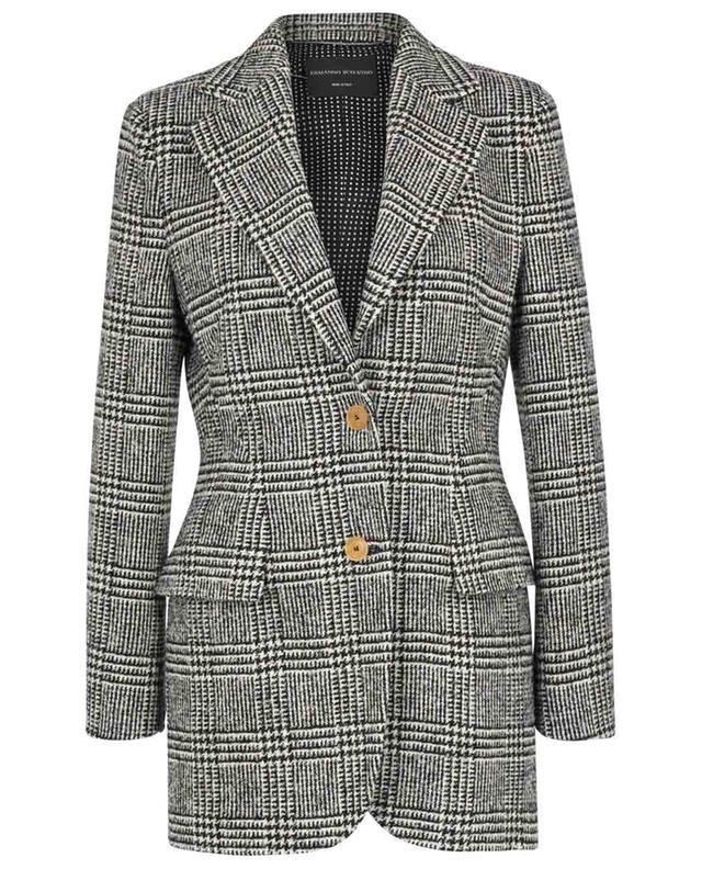 Blazer cintré à boutonnage simple en tweed motif prince-de-galles ERMANNO SCERVINO