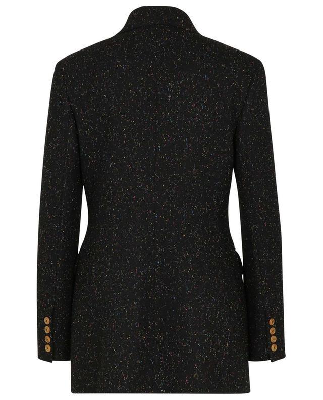 Blazer à boutonnage double en tweed multicolore ERMANNO SCERVINO