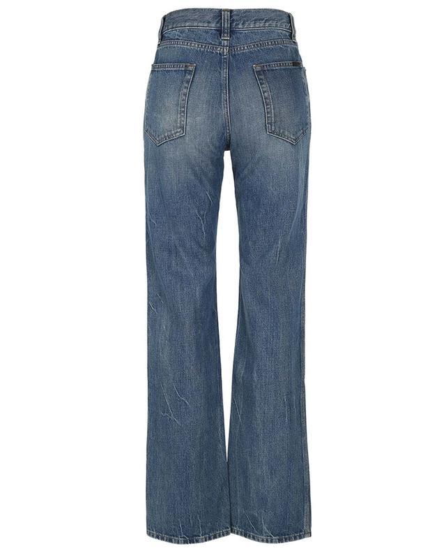 Jean droit bleu brut style années 60 SAINT LAURENT PARIS