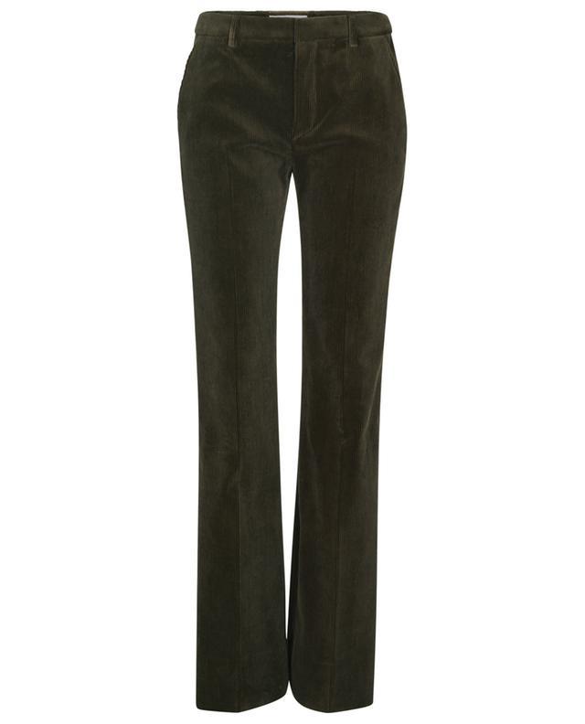 Pantalon droit en velours côtelé taille basse SAINT LAURENT PARIS