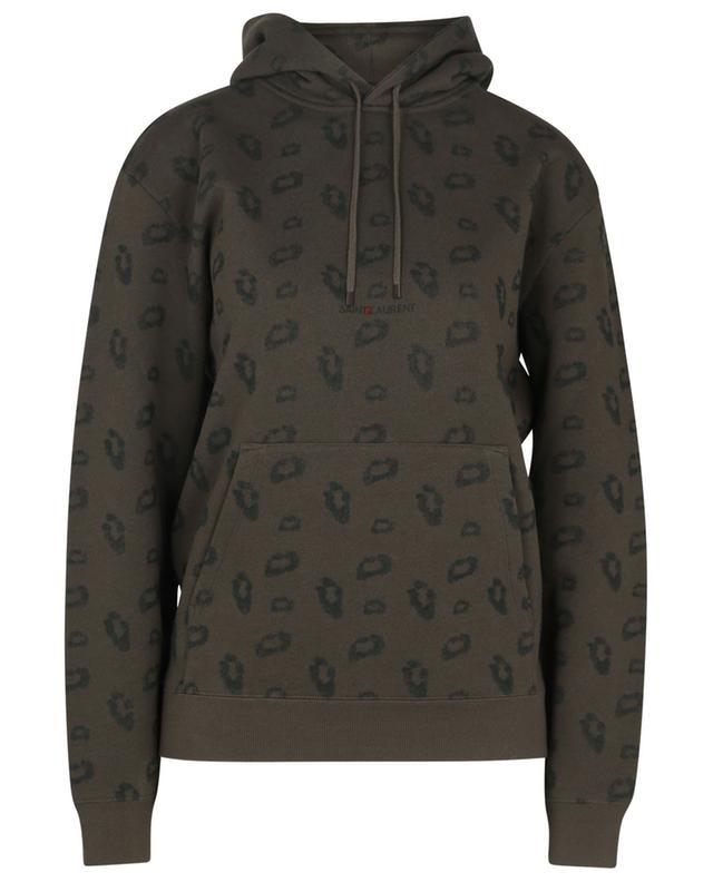 Sweat-shirt à capuche imprimé Saint Laurent Rive Gauche Leopard Jacquard SAINT LAURENT PARIS