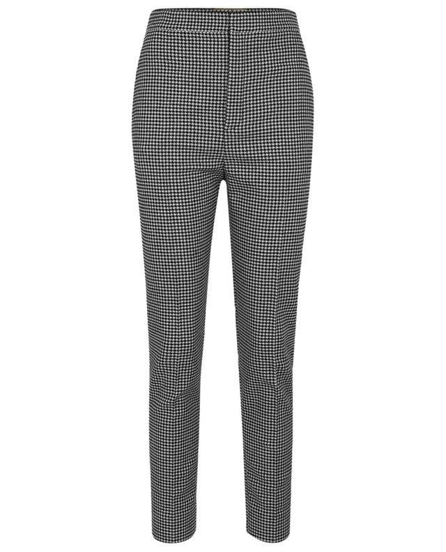 Pantalon fuselé taille haute en laine motif pied-de-poule SAINT LAURENT PARIS