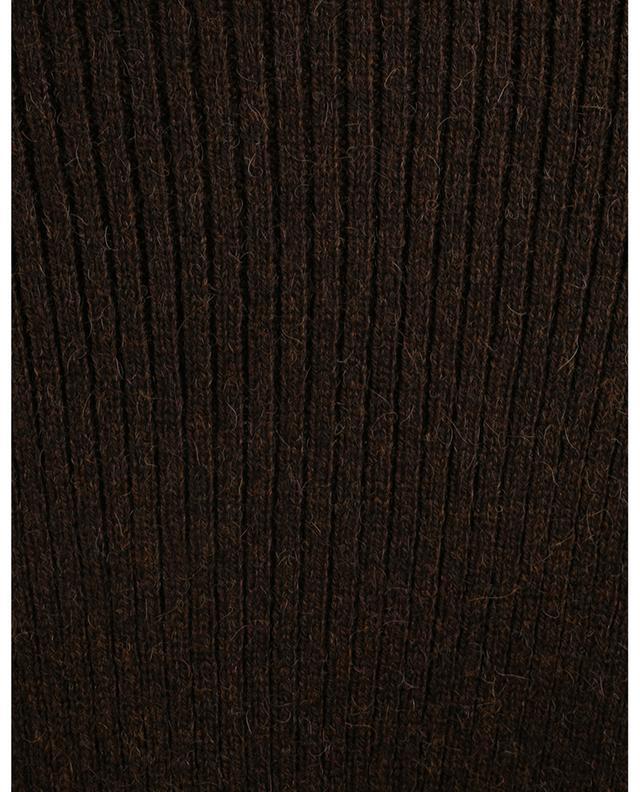 Pull chaussette côtelé à col roulé monogrammé SAINT LAURENT PARIS