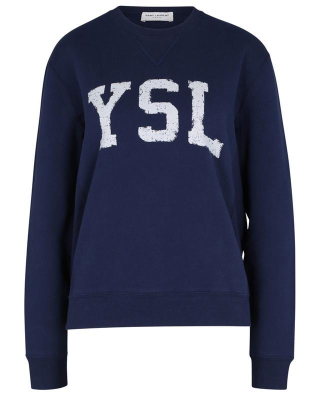 Sweat-shirt à col rond esprit college YSL SAINT LAURENT PARIS