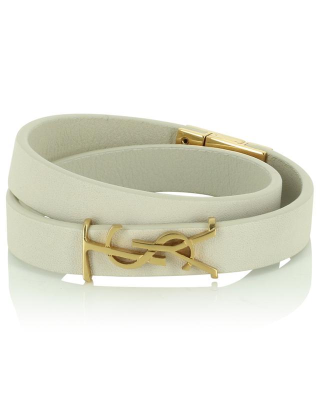 Bracelet en cuir Opyum Double Wrap SAINT LAURENT PARIS