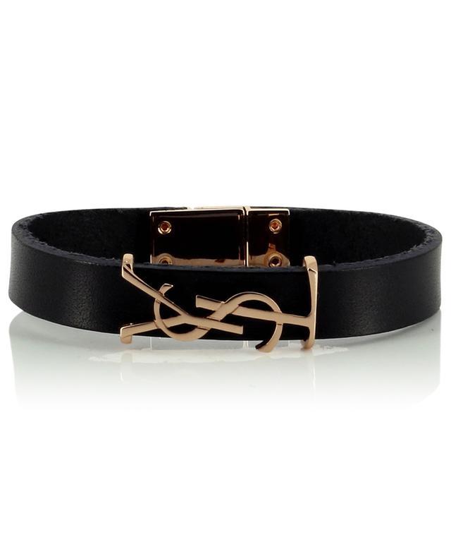 Bracelet monogrammé en cuir Opyum SAINT LAURENT PARIS