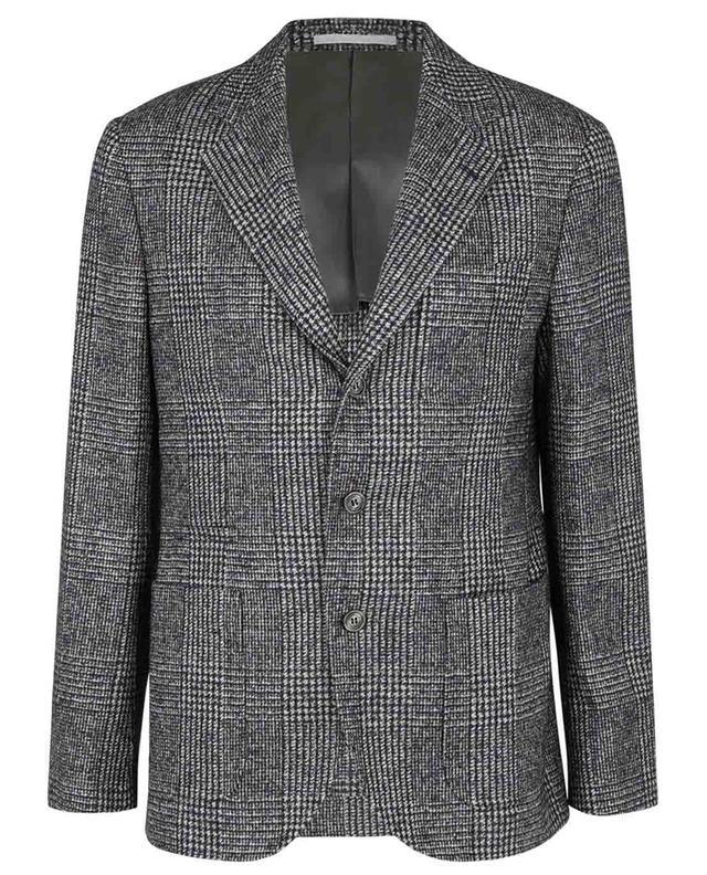 Blazer souple à boutonnage simple en laine prince-de-galles BRUNELLO CUCINELLI