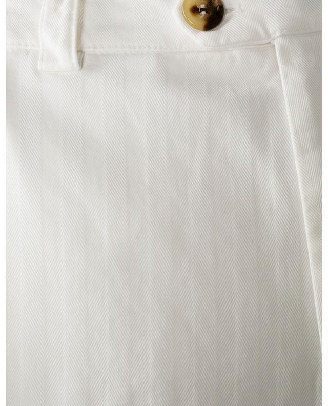 Pantalon cargo texturé chevrons Garment-Dyed Leisure Fit BRUNELLO CUCINELLI