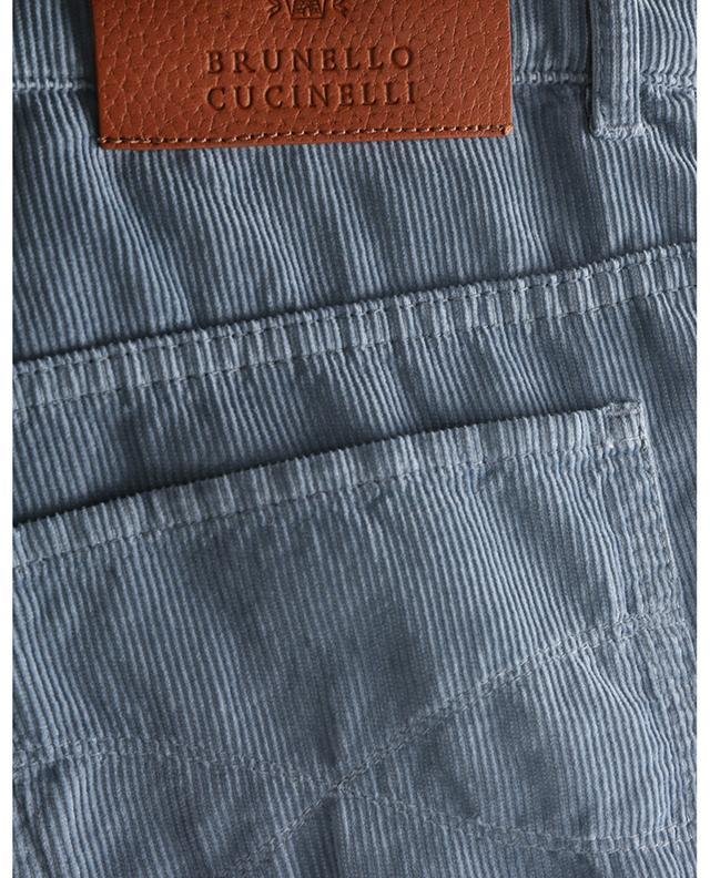 Pantalon en velours finement côtelé Garment Dyed Italian Fit BRUNELLO CUCINELLI