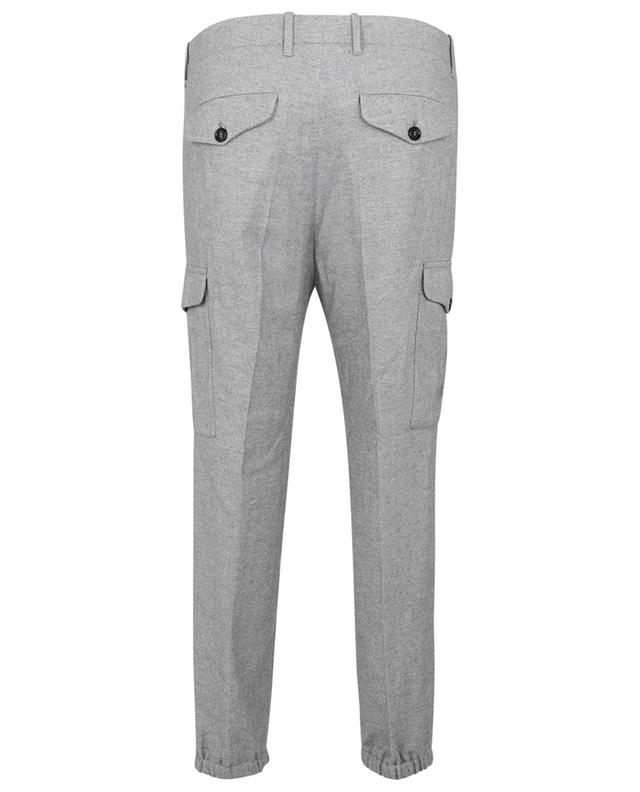 Pantalon cargo en flanelle motif chevrosn Ergonomic Fit BRUNELLO CUCINELLI