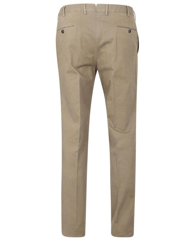 Superslim fit textured cotton blend trousers PT TORINO