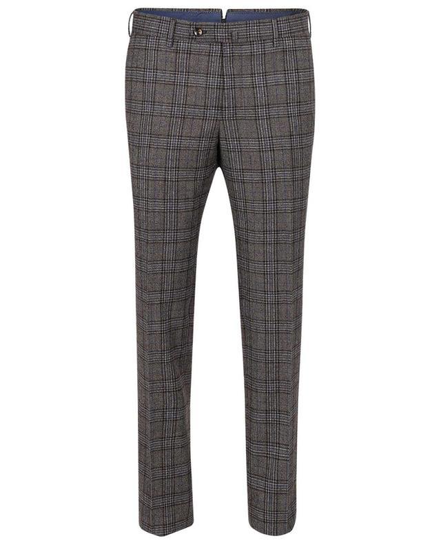 Pantalon en laine à carreaux Slim Fit PT TORINO
