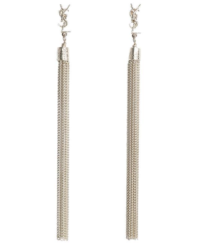 Boucles d'oreilles longues en métal doré Loulou SAINT LAURENT PARIS
