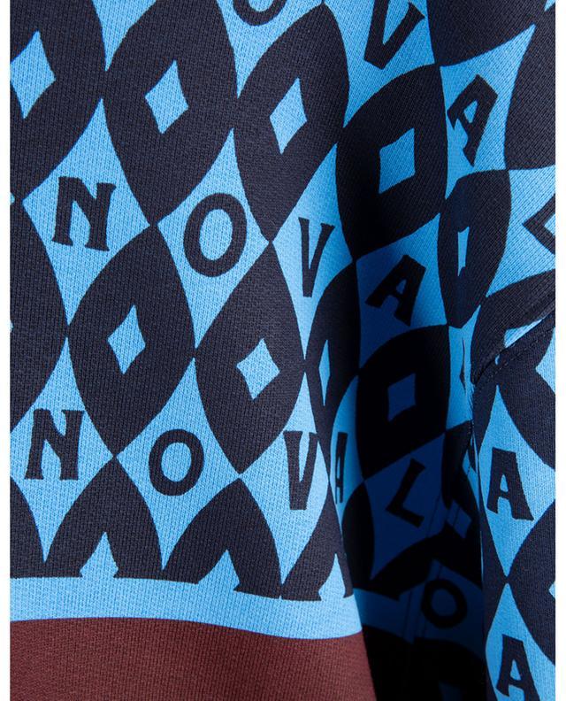 Sweat-shirt raccourci à capuche imprimé Valentino Foulard Archive VALENTINO