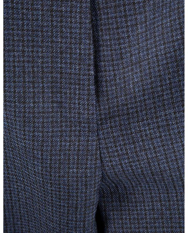 Pantalon à carreaux en laine avec ceinture VLogo VALENTINO