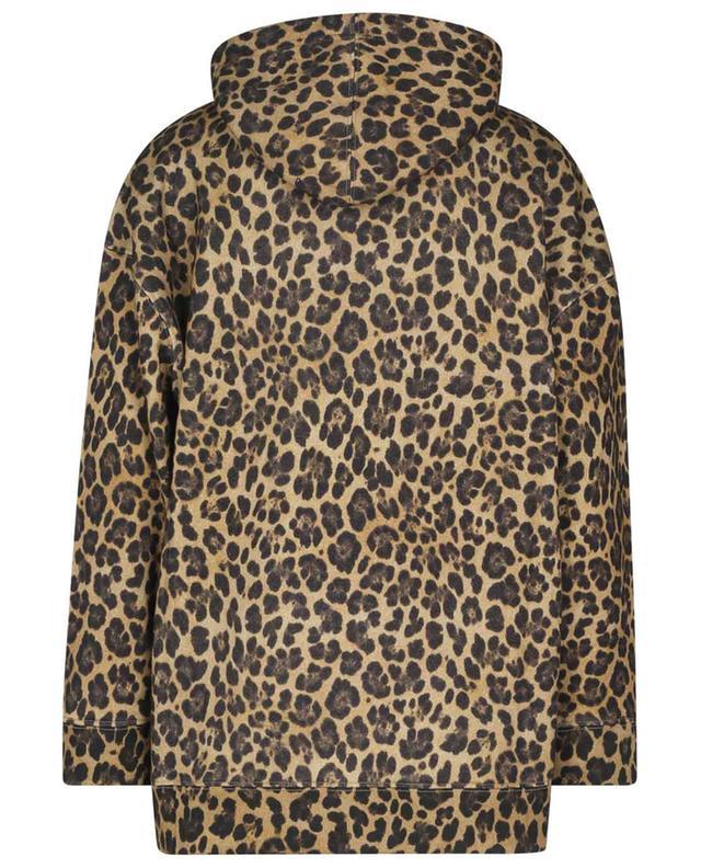 Sweat-shirt à capuche oversize imprimé léopard et logo VALENTINO