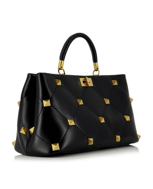 Grand sac à main en cuir nappa Roman Stud The Handle VALENTINO