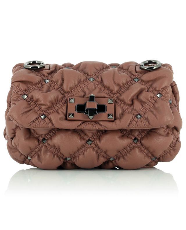 Mini sac porté épaule en cuir nappa Spikeme VALENTINO