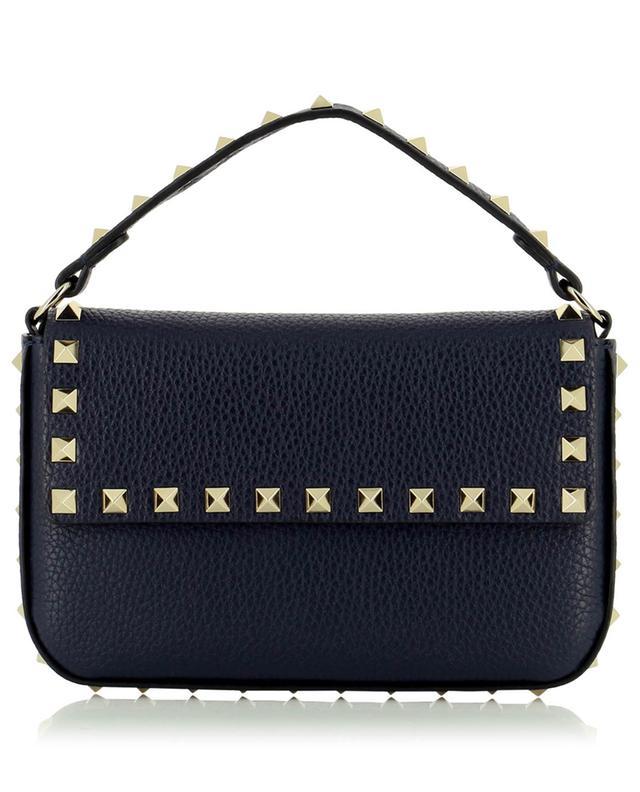 Mini sac porté épaule en cuir grainé Rockstud VALENTINO